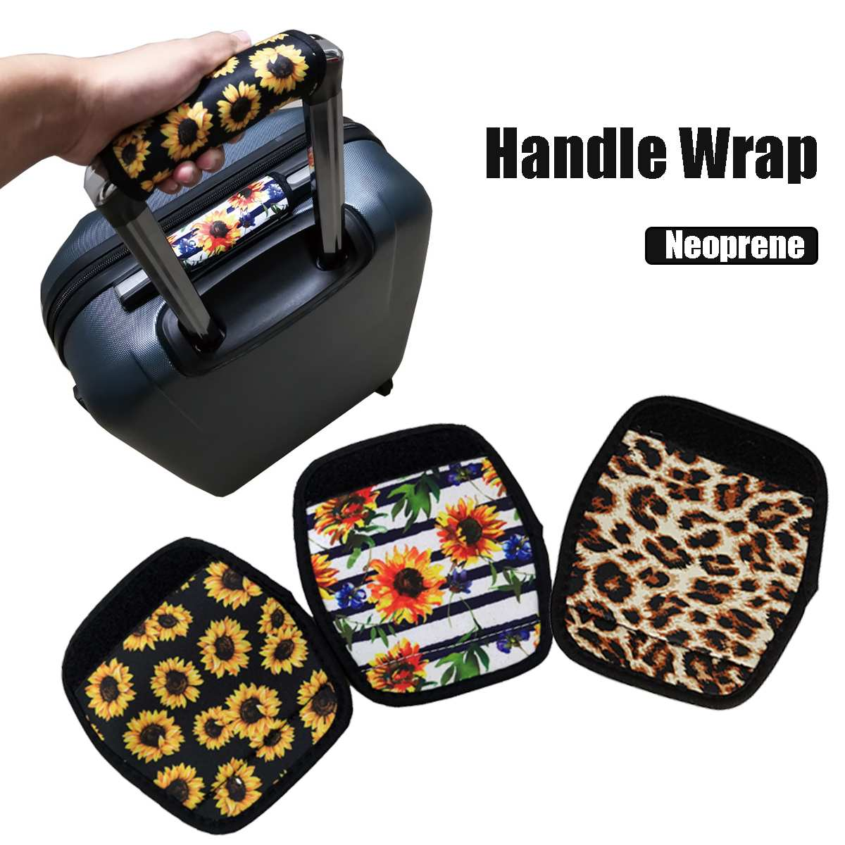 Comfortable Light Neoprene Handle Wraps/Grip/Identifier For Travel Bag Luggage Suitcase Fit Any Luggage Handle Adhesive Tape