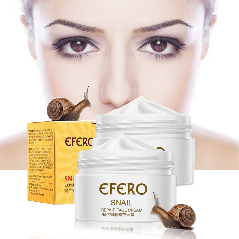 EFERO Anti Aging Snail Essence Face Cream Whitening Snail Cream Serum Moist Nourishing Lifting Face Skin Care anti wrinkle Cream(China)