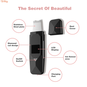 Image 2 - USB Ultrasonic Deep Face Cleaning Machine  Blackhead Remover Ultrasonic Facial Cleaner Spatula  Wrinkles and spots Facial  White