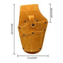 Paquete de cintura usable bolsa de perforación eléctrica tornillos taladro de uñas Bit bolsa 37MD