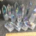 Аура Ангел прозрачный кристалл камни палочка точка кварц для лечения камень подарок