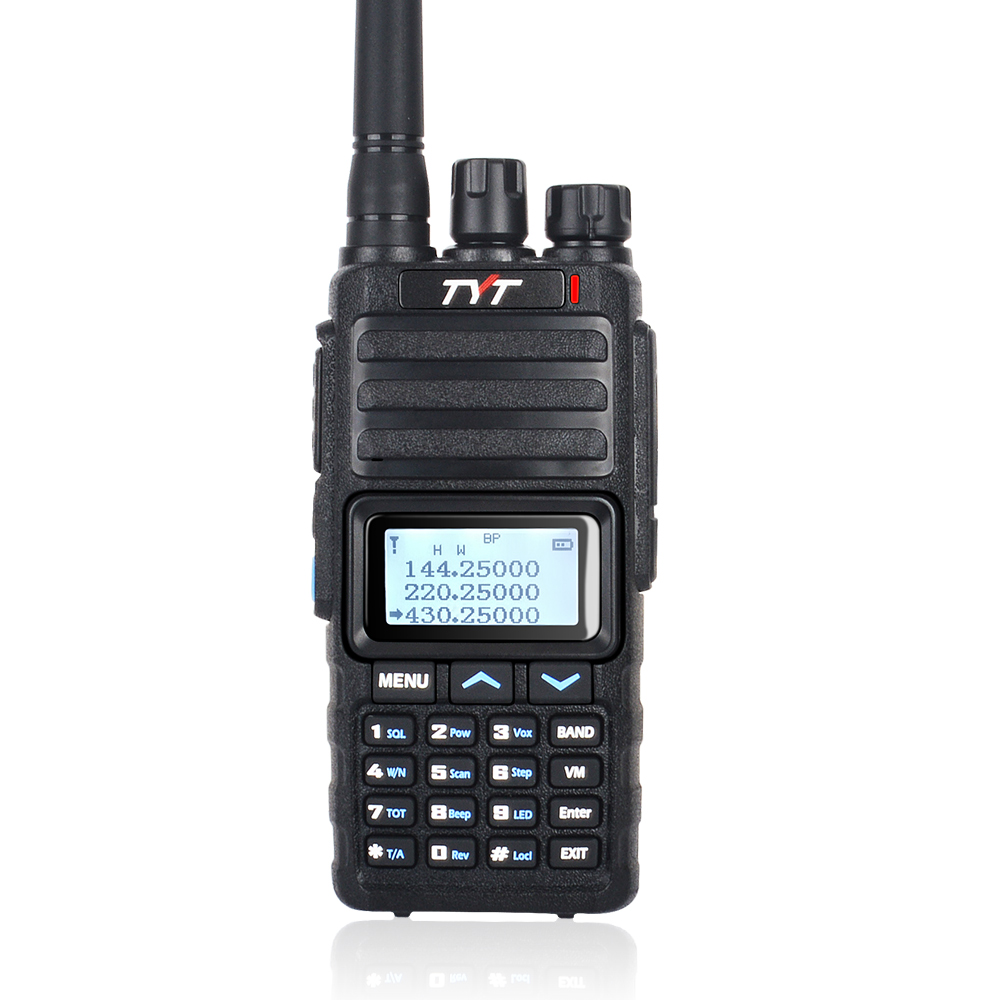 Tri Band Walkie Talkie Scrambler UHF VHF 128ch 220-260MHz 136-174&400-470MHz Handheld Two Way Radio TYT TH-350 Transceiver