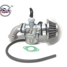 PZ19 19mm Hand Choke Carburetor Carb Intake Pipe Air Filter Fuel Filter 50cc 70cc 90cc 110cc 125cc Quad ATV Taotao Sunl newoke
