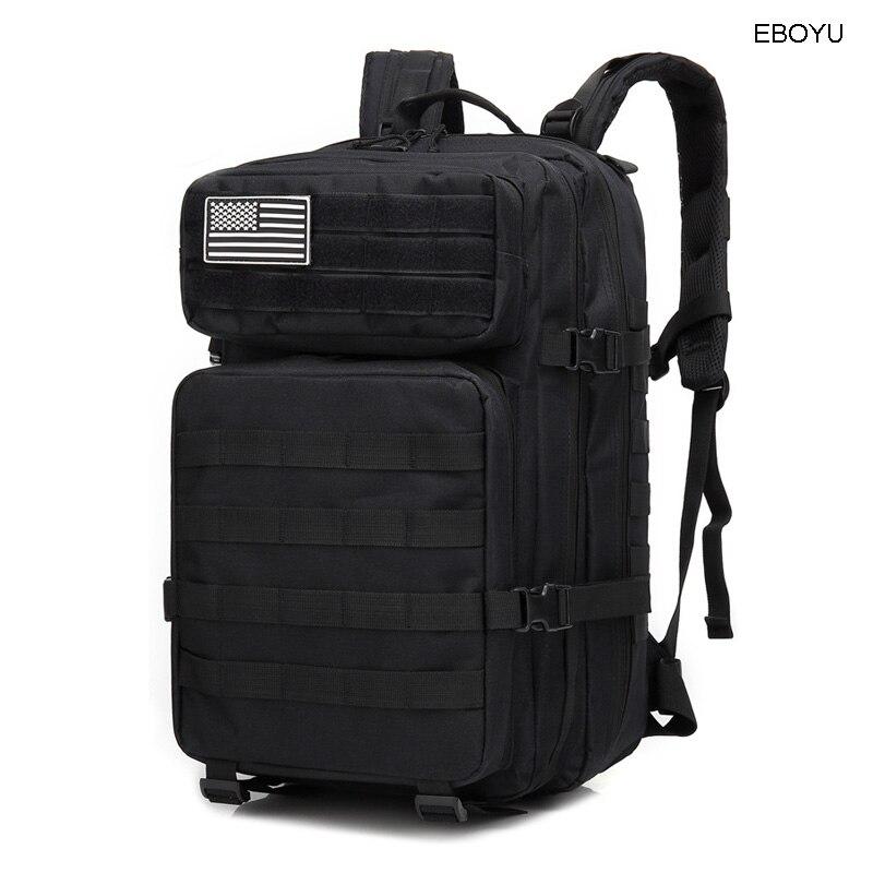 EBOYU sac à dos tactique 3 jours assaut Pack Molle Bug Out sac 42L militaire sac à dos pour randonnée Camping Trekking chasse-BL090