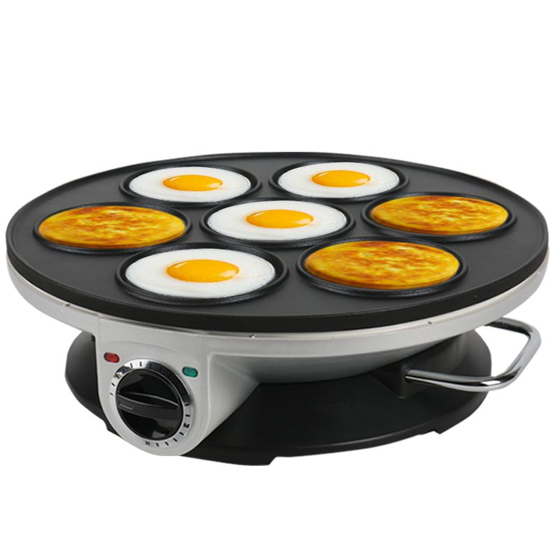 home Crepe Maker Non-stick Pancake Machine Multifunction <font><b>Electric</b></font> <font><b>baking</b></font> <font><b>pan</b></font> machine 7-hole pancake machine Breakfast Machine1pc image