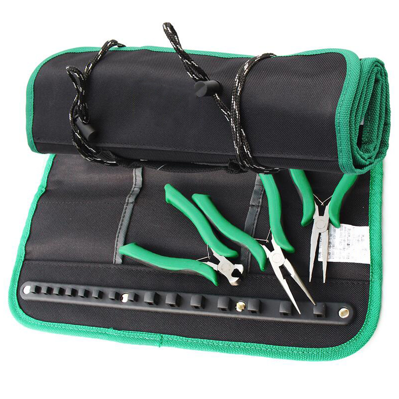 Reel Kit Multifunction Folding Tool Bag Portable Roller Bag Storage Pocket Tool Bag Oxford Cloth Suitcase Storage Bag