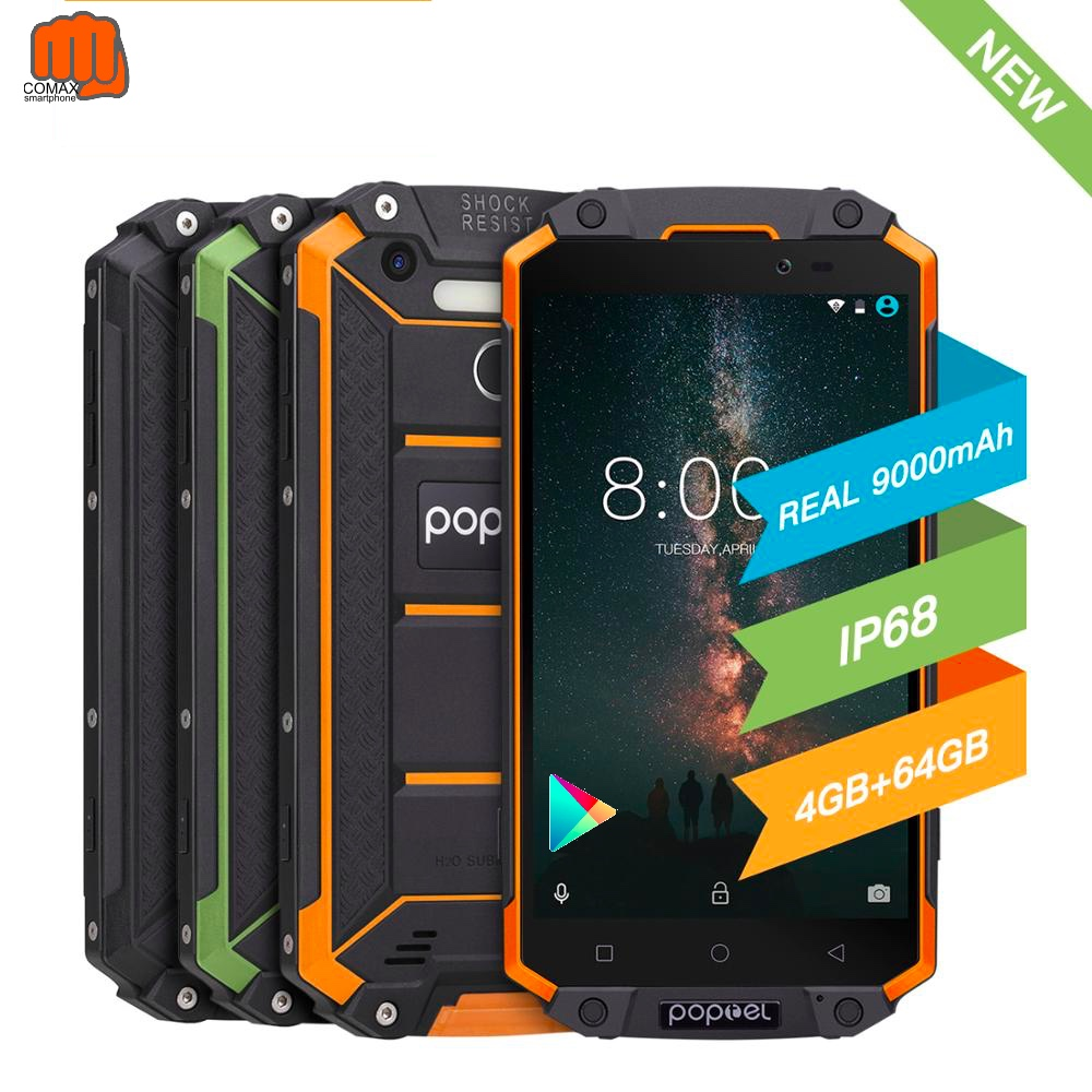 Global version unlock smartphone 9000 mah Poptel p9000 max 4G/64G NFC power bank phone can ODM waterproof rugged smartphone image
