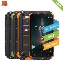 Global version unlock smartphone 9000 mah  Poptel p9000 max 4G/64G NFC power bank phone can  ODM waterproof rugged smartphone