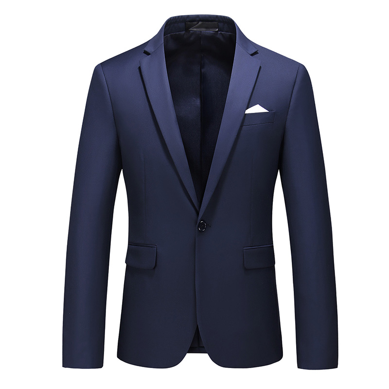 MOGU Pure Color Men's Blazer One Button Slim Fit Wedding Dress For Male New Fashion Casual Blazer Asian Size 5XL Suit Jacket