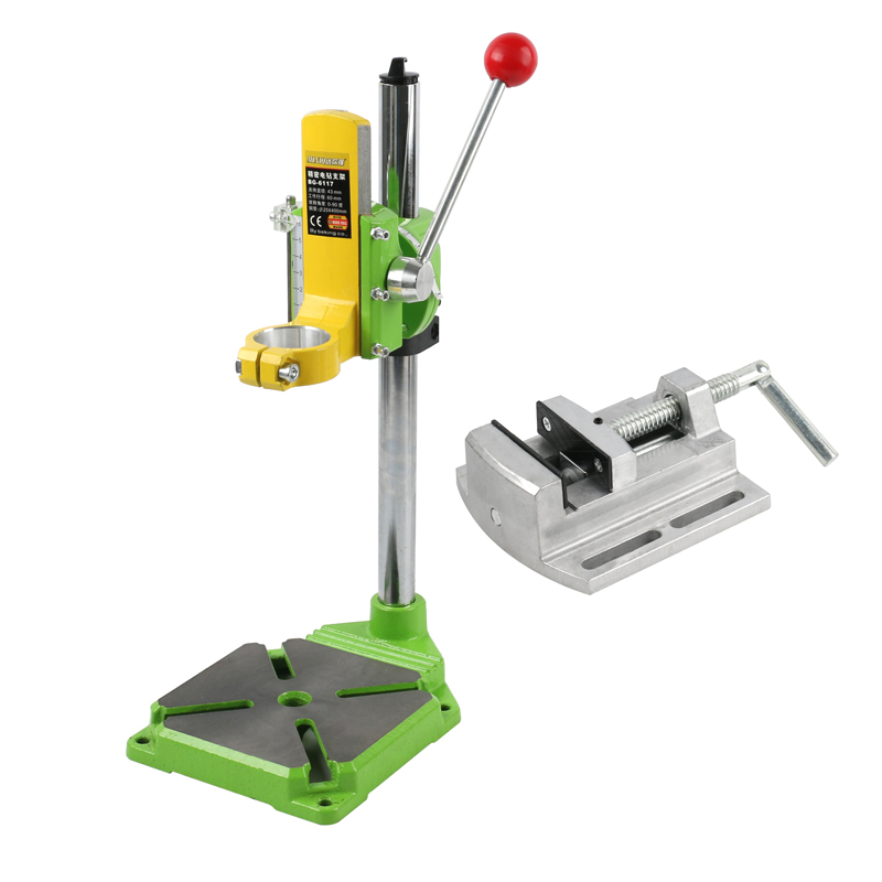 Electric Drill Stand Workbench Bracket Fixed Frame Tool 90° Rotating Chuck Table