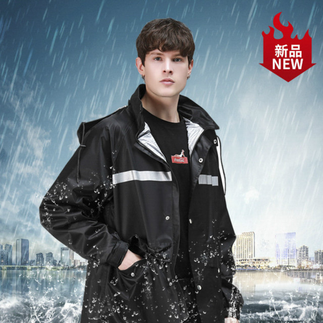 Men Motorcycle Raincoat Rain Pants Suit Adult Thickening Rain Poncho Waterproof Suit for Fishing Rainwear Casaco Masculino Gift 1