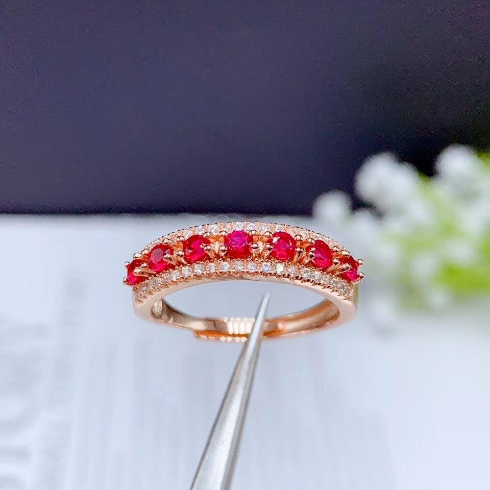 CoLife bijoux Clasic rubis bague pour femme 7 pièces naturel rubis argent bague 925 argent rubis bijoux cadeau pour femme