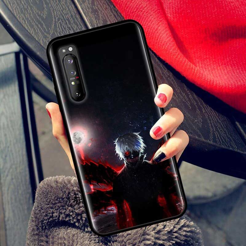 Silicone Thin Case for Sony 1 II 5 Shell for Sony 10 10 II L4 Phone Cover Shell Coque Funda Black And White Anime Tokyo Ghouls