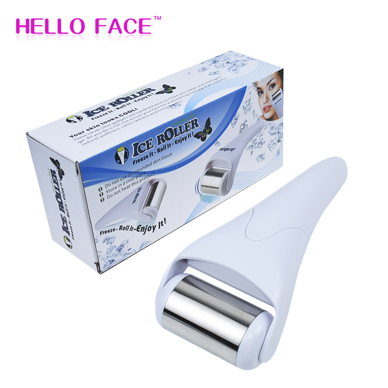Ice Roller Massager Facial Care Beauty Instrument Stainless Steel Ice Roller Lift Firming Face Relief Fatigue Skin Care