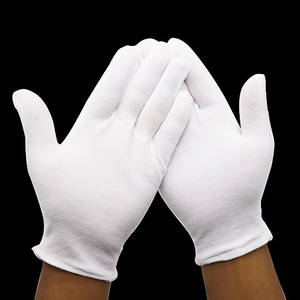 Work-Gloves Cloth Labor Inspection-Protection Safety White Thick Womens Cotton Universal