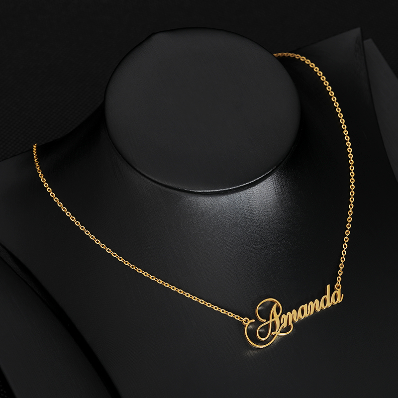 Stainless Steel Charm Personalized Name Crown Necklace Women Men Collares De Moda 2019 Custom Jewelry BFF Choker Bijoux Femme