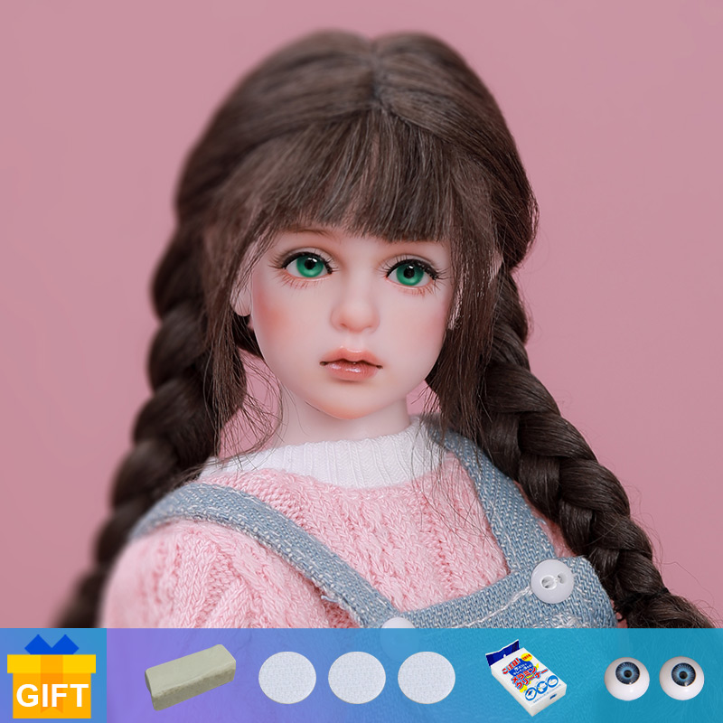BJD Puppe Shuga Fee Miru Mini Rosa 1/6 Puppe Anime Figur Harz Spielzeug für Kinder Überraschung Geschenk für Mädchen Geburtstag dollshe DS