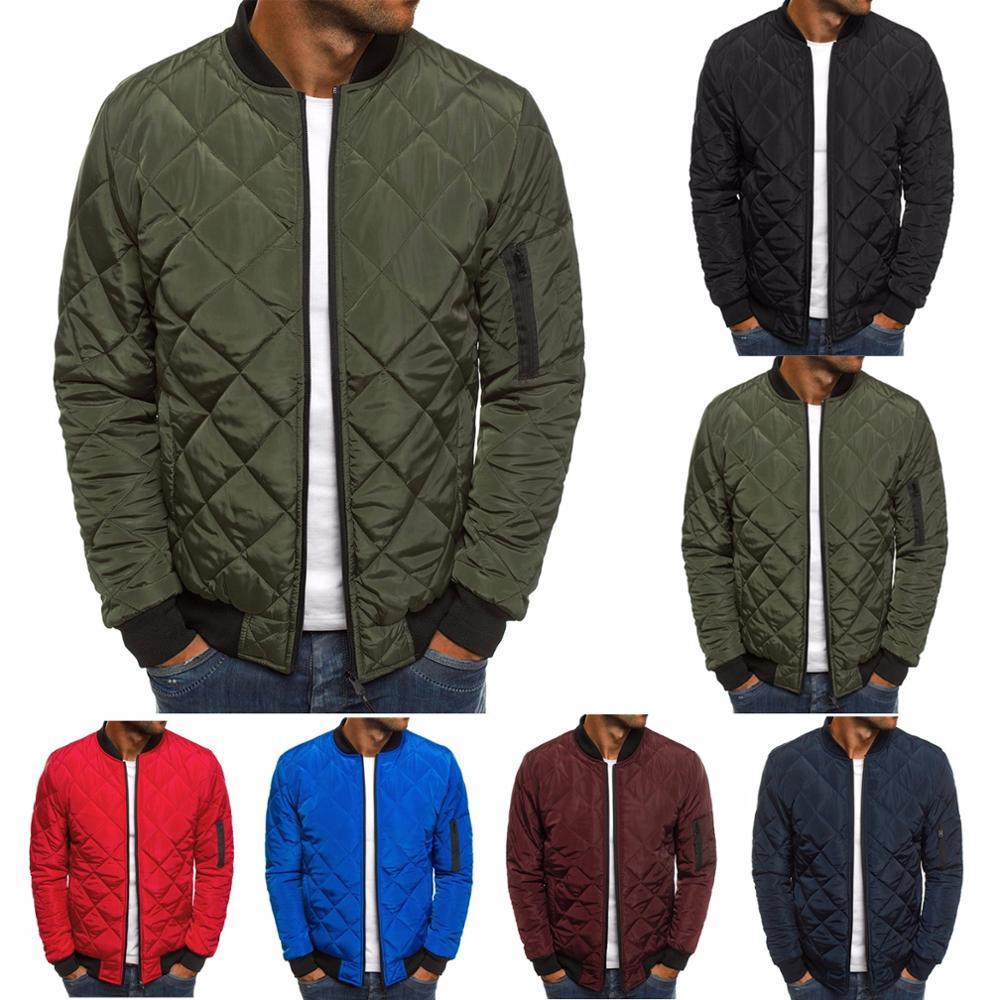 ZOGAA Mens Autumn Jacket Coat Wind Breaker Casual Plaid Men Parka Solid Color Outerwear Winter Jacket Overcoat Men 2019