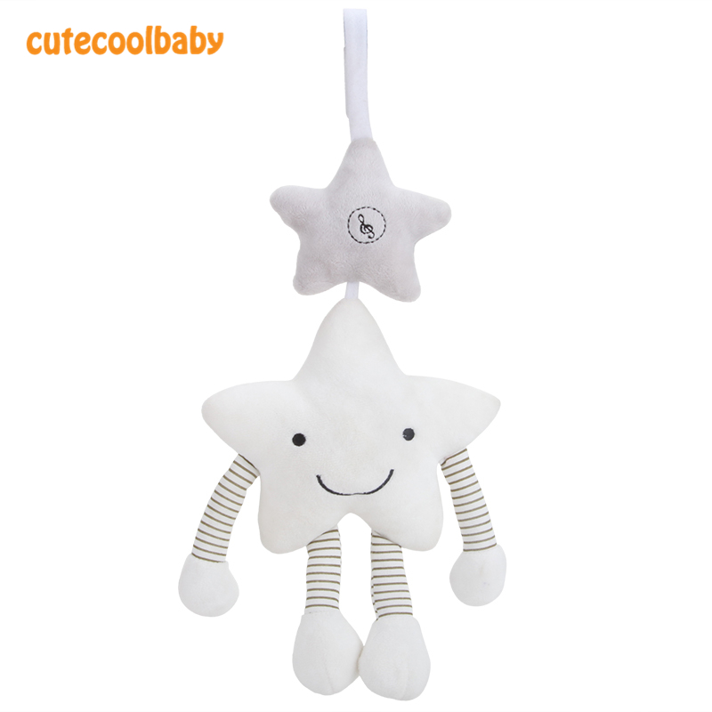 Baby Rattles & Mobiles Cute Star Shape Baby Cribs Hanging Sensory Toys Plush Stuffed Car Seat Mobile Bell For Babies 0-12 Months