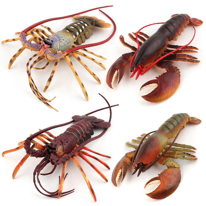 Kids Toy Action-figures Model Solid Plastic Classic Sea Life Australian Boston Lobster Toys for Aquarium Home Party Decoration