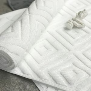 Image 3 - Comfortable Plaid Bath Mat Luxury Hotel Home Towel Cotton Thick Slip resistant Doormat Absorbent Mats 50*77cm