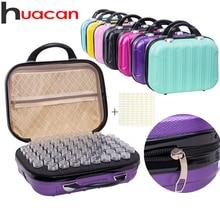 Huacan 新 132 ボトル 5D ダイヤモンド塗装収納ボックスツールダイヤモンド刺繍アクセサリーハンドバッグジッパー容器