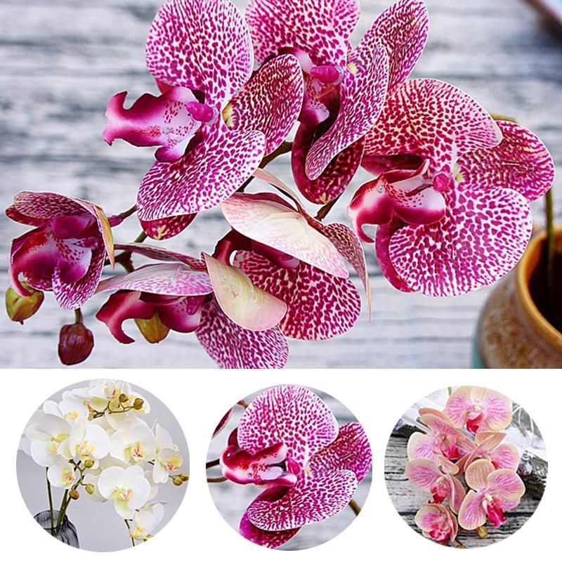 Beleza artificial orquídea flores 3d impressão falso traça flor borboleta orquídea para festa de casamento em casa decoração diy