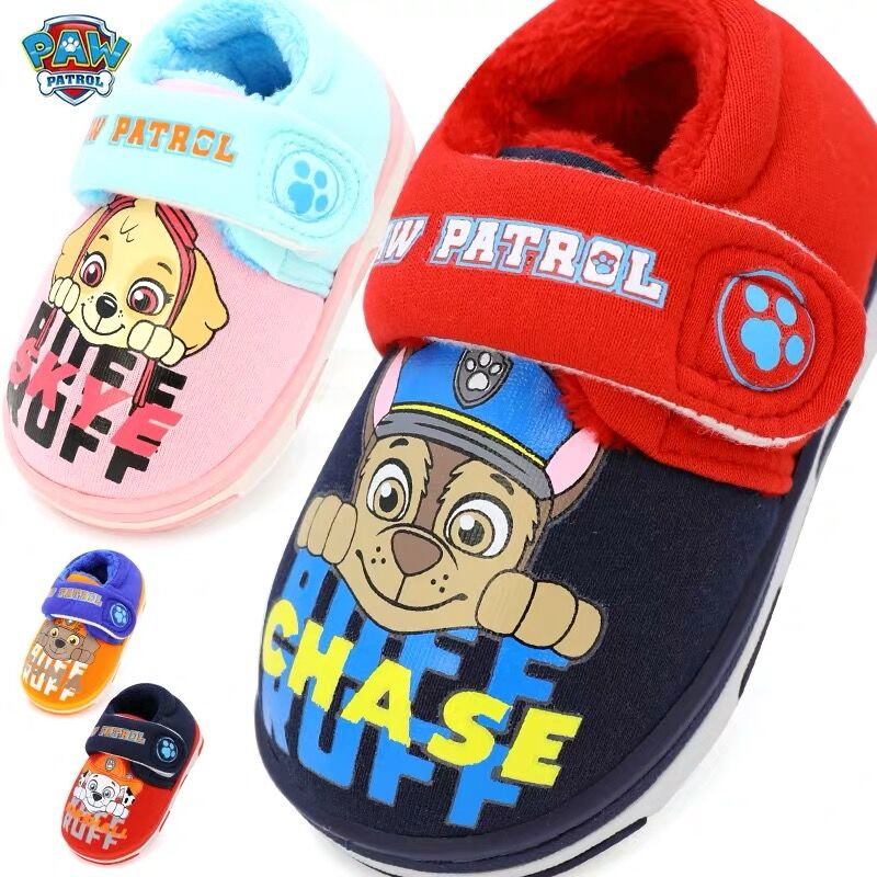 9 Kinds Original Paw Patrol Chase Marshall Rocky Everest Rubble Skye Zuma Action Figure Shoes Children Toy Slipper Birthday Gift