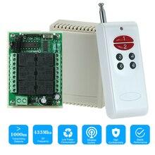 433 mhz dc 12 v 6ch canal 10a relé sem fio rf módulo receptor interruptor de controle remoto 6 chave rf 433 mhz transmissor