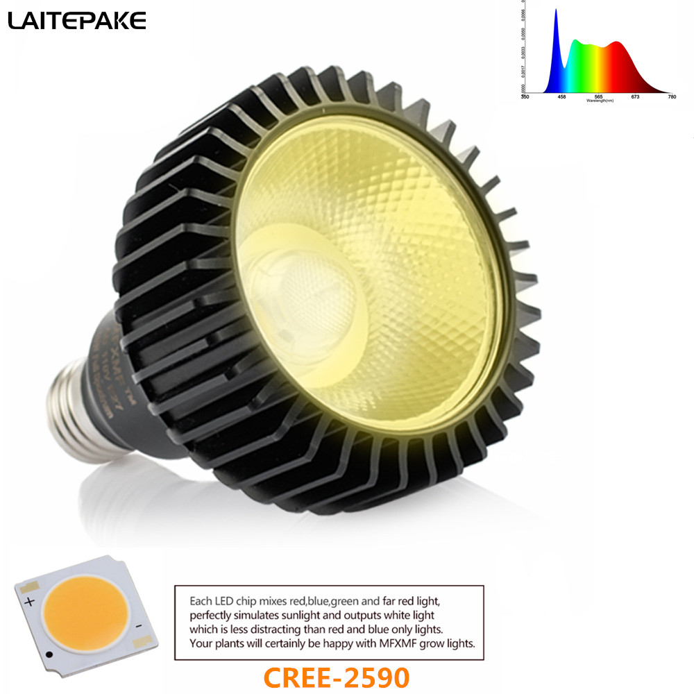 CREE-CXB 2590 E27 Led Grow Light Full Spectrum 3500K 85-265V 1500LM For Indoor Plant Vegetables Grow Lamp