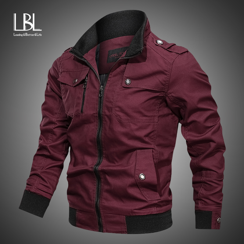 Fashion Varsity Jacket Men 2019 New Casual Solid Military Jackets Mens Zipper Coat Outwear Slim Fit Spring Autumn Brand Clothing