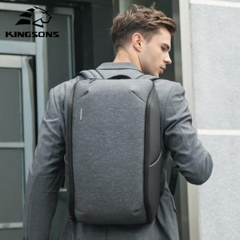 Kingsons multifunction men 15 polegada portátil mochilas moda à prova dwaterproof água mochila de viagem anti-ladrão masculino sacos de escola quente 1