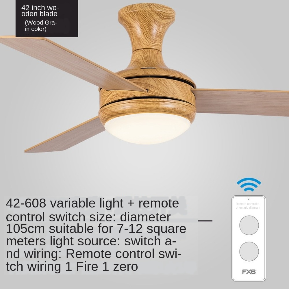 Fans  decor fans 40 wood AliExpress control inch with inch lights ...