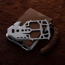 SEMORID – portefeuille en cuir véritable pour hommes, porte-cartes 2021 en métal, motif aviateur minimaliste, carte de crédit Rfid
