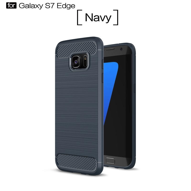 For Samsung Galaxy S7 Edge Case Carbon Fibre Soft Silicone Ultra-thin Cases For samsung s7 edge <font><b>SM</b></font>-<font><b>G9350</b></font> Shell Luxury Coque 5.5