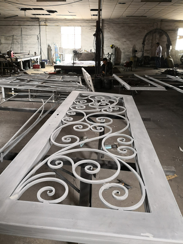 Shanghai Hench Brand China Factory 100% Custom Made Sale Australia Wrought Iron Entrance Doors