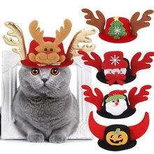 Disfraz de mascota/sombrero perro Halloween tocado navideño gato diadema divertida