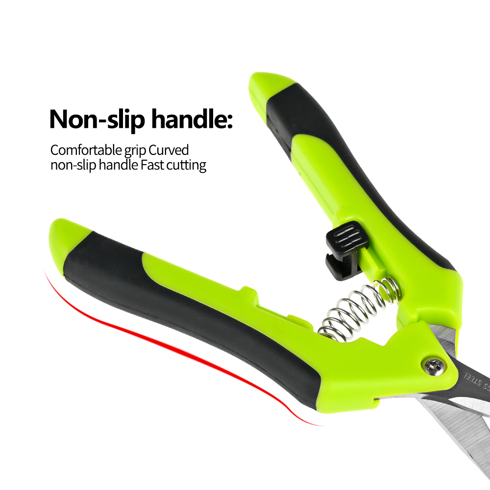 Hot DealsGarden Pruning Shears Stainless Steel Pruning Tools Hand Pruner Cutter Grape Fruit Picking Weed Household Potted Branches Pruner