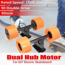 Effiziente 600W 90mm Dual Stick Elektrische Skateboard Motor Drahtlose Sensor Fernbedienung Stick Hub Motor Lkw Kits Roller