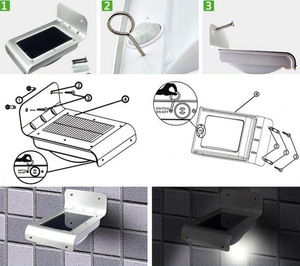 Image 4 - 2PCS 16 led 야외 태양 모션 빛 에너지 절약 적외선 센서 벽 태양 램프 정원 야외 마당 단계 계단 사용