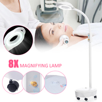 Pro 8X Diopter 120 LED Magnifying Floor Stand Lamp Magnifier Glass Cold Ligth Len Facial Light For Beauty Salon Nail Tattoo 220V