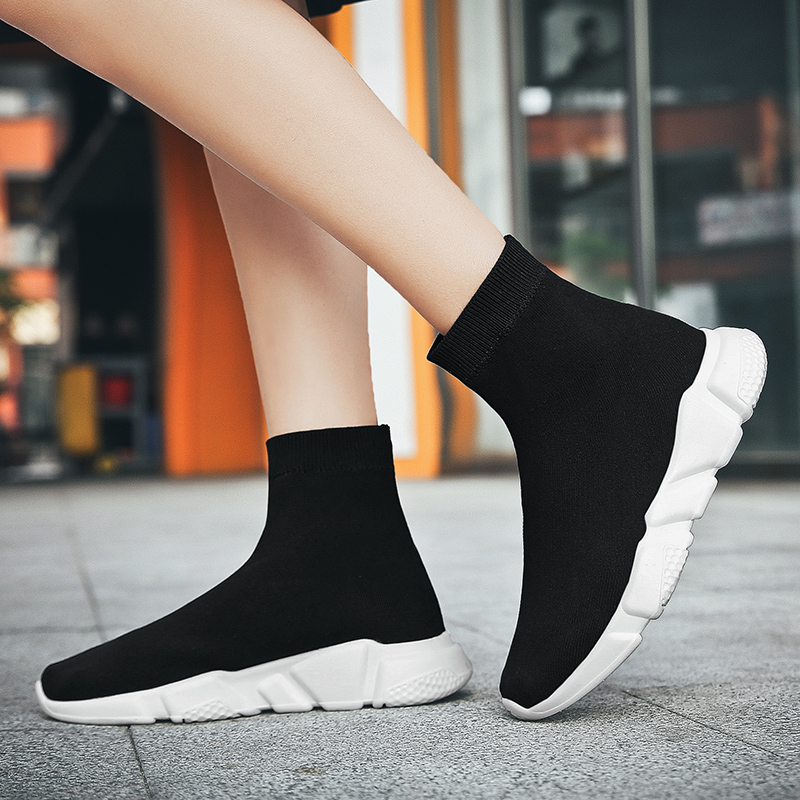 Winter Running Shoes For Men Outdoor Sports Casual Socks Sneakers Breathable Light Elastic Athletic Sneakers Women Walking Shoes