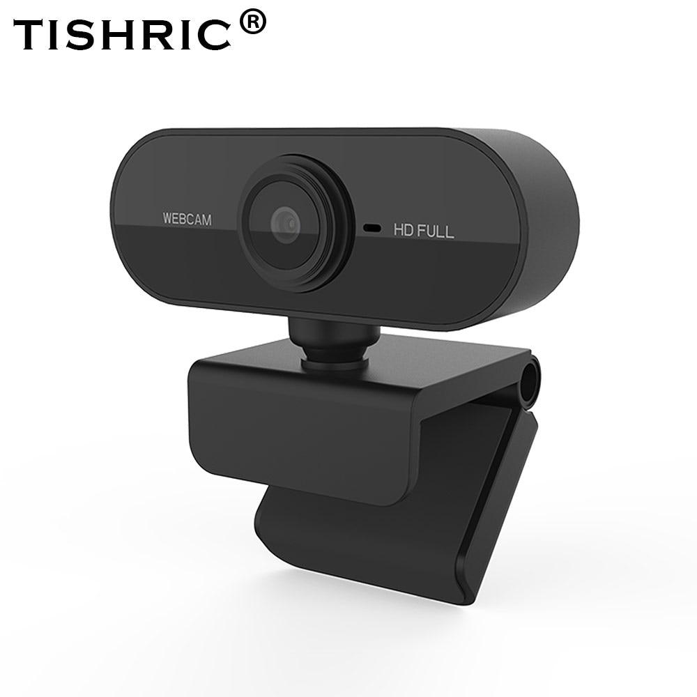 TISHRIC Full HD Webcam 1080P Web Camera With Microphone For Computer Autofocus USB Webcam  360 ° rotation PC/Computer Camera 1
