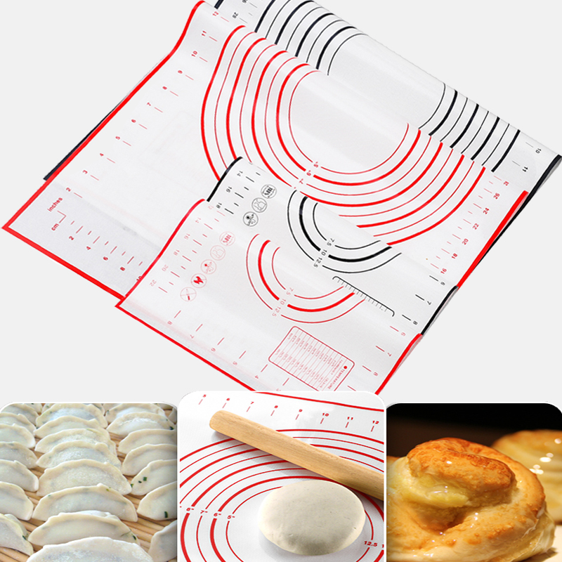 Non-Stick Silicone Baking Mat Sheet Pizza Dough Maker Holder Pastry Utensils Bakeware Accessories Cooking Tools Kitchen Gadgets