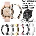 Гальванизированный чехол для Samsung Gear S3 S4 Galaxy Watch 46 мм 42 мм, мягкий ТПУ Универсальный защитный бампер, рамка, края вокруг