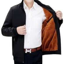 Мужская повседневная куртка, однотонная облегающая утепленная ветровка, Размер 4XL 5XL на осень и зиму, 2019