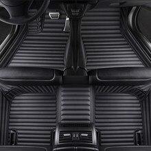 Alfombrilla de cuero de alta calidad para honda jazz fit, 5 asientos, accesorios para coche civic, cr-z, Insight Odyssey