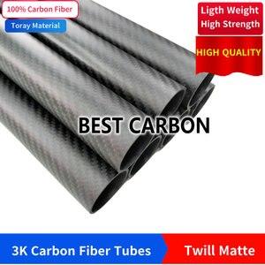 Image 2 - จัดส่งฟรี OD21 22 23 24 25 26 27 28 29 มม.,500 มม.ความยาวคุณภาพสูง Twill Matte Surface 3K คาร์บอนไฟเบอร์ผ้าแผลหลอด