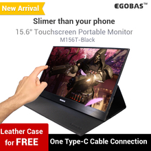 15.6 Inch Touchscreen Portable Monitor M156T Black Ultraslim For Gamers And Laptop With HDR Support Type-C Mini HDMI