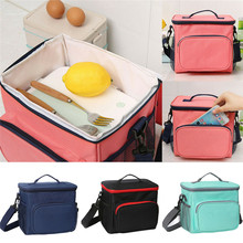 NoEnName-Null Portable Food Thermal Insulated Lunch Bag Large Camping Travel Picnic Cooler Drink Lunch Box Tote for Women Men